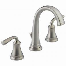 kitchen sink faucets lowes delta lorain stainless 2 handle widespread watersense bathroom sink faucet with drain at lowes