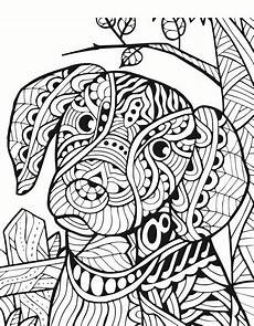 ausmalbilder erwachsene hund zentangle animal coloring pages coloring page