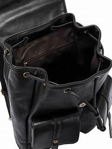 sac a dos en cuir 5184 sac 224 dos en simili cuir avec liens de serrage noir shein sheinside