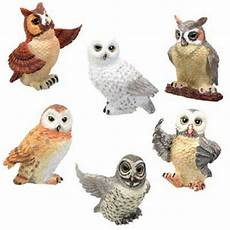 Beautiful Bird Owl Figurines 6 owls figurines set lifelike statue the cutest