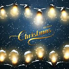 merry christmas christmas lights with snow stock vector illustration of decoration december