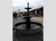 2 tier Cast iron Heron Fountain, the Kimberly