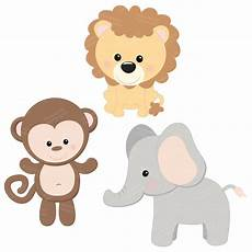 Baby Jungle Animal Clipart professional baby jungle animals clipart vector set baby