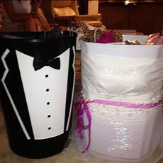 wishing well trash cans for the and groom handmade