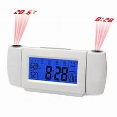 dual digital led laser wall projector projection alarm time clock temperature ebay