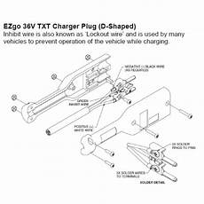 golf cart battery charger wiring diagram ezgo golf cart 36v powerwise charger receptacle handle 36 volt txt medalist ebay