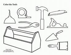 tool collection coloring page coloring home