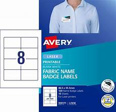fabric name badge labels 959171 avery australia
