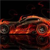 Dodge Viper SRT Front Fire Abstract Car 2014  El Tony