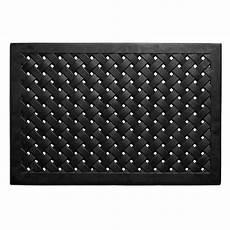 Black Rubber Door Mats Outside by Trafficmaster Black Lattice 24 In X 36 In Door Mat