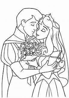 the prince princess wedding coloring pages