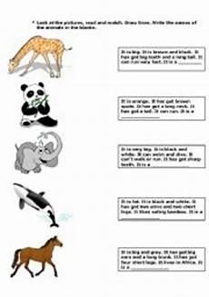 animal worksheets description 13834 describing animals worksheets