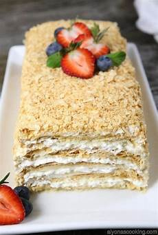 easy napoleon cake recipe something sweet napoleon cake cake puff pastry desserts