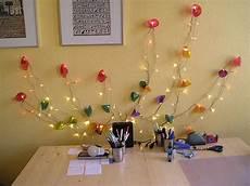 lichterkette selber bauen led lichterblume als indirekte beleutung selbst basteln
