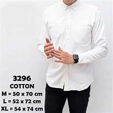 jual baju kemeja lengan panjang casual pria putih polos slimfit 3296 di lapak forstyle forstyle
