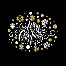 merry christmas handwriting script lettering christmas greeting card with snowflakes premium