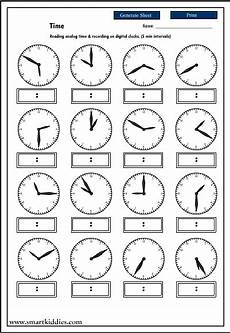 17 best images of telling time by minutes worksheet