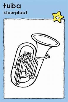Malvorlagen Instrumente Instrumenten Tuba Kleurplaten Tekenen Knutselideetjes