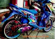 Airbrush Beat Karbu by Modifikasi Motor Honda Beat Airbrush Ungu Modifikasimotorz