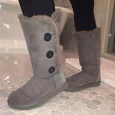 ugg shoes bailey button triplet boots grey poshmark