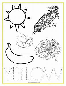 color yellow worksheets for preschool 12892 printable coloring sheets