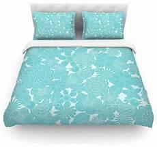 Turquoise Duvet Cover by Grifol Quot Turquoise Birds Quot Aqua Blue Duvet Cover