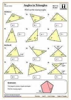 lines and angles worksheet answers ks3 and ks4 angles