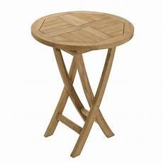 table en teck massif ronde pliante de jardin achat