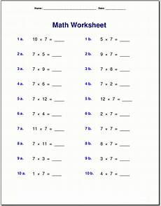 primary school maths worksheets multiplication learning printable