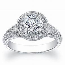 buy a made split pave engagement ring 0 40 ctw g vs2 w 1 50ct white