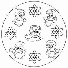 winter mandala coloring pages for crafts and