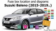 fuse box on suzuki fuse box location and diagrams suzuki baleno 2015 2019