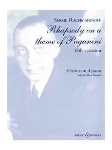 rachmaninoff 18th variation from rhapsody on a theme of paganini clarinet piano