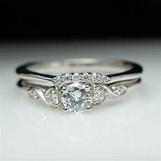 beautiful diamond engagement ring wedding band 14k