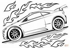 Hot Wheels Car Coloring Page  Free Printable Pages