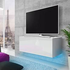 meuble tv a suspendre meuble tv meuble salon 100 cm blanc mat