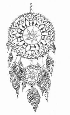 Ausmalbild Indianer Mandala Zentangle Dreamcatcher By Kirsty Jayne Goddard Zentangle