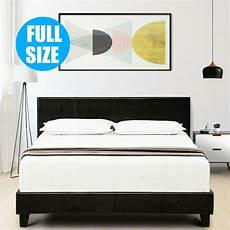 Kopfteil Bett Gepolstert - size faux leather platform bed frame slats