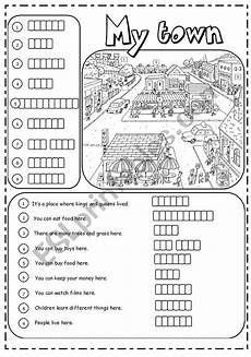 places around town worksheets 16029 places in town 2 3 esl worksheet by joannaturecka
