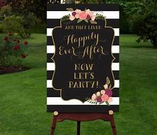 printable reception sign reception entrance let s party happily ever after vintage
