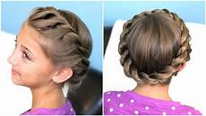 how to create a crown twist braid updo hairstyles youtube