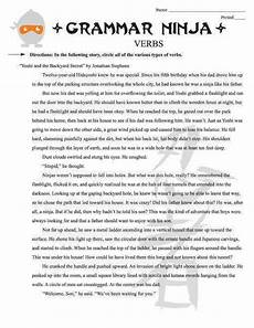 parts of speech middle school worksheets