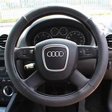 cars with all wheel steering genuine black leather car steering wheel cover glove