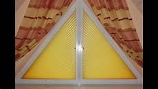 Plissee Dreieckfenster Vor W 228 Hrend Und Nach Der Montage