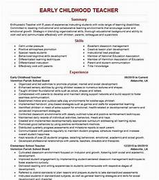 early childhood teacher resume exle resumes misc