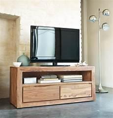 Meuble Tv 2 Tiroirs En Sheesham Massif Stockholm Maisons