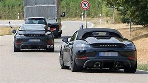 Porsche 718 Cayman GT4 Spied On A Date With Boxster Spyder