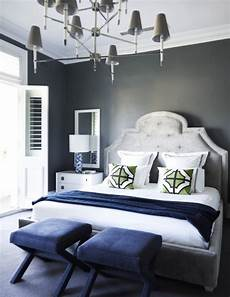 flip flop walls and headboard light grey paint with darker grey headboard white and navy