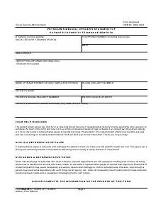form ssa 787 download fillable pdf or fill online physician s medical officer s statement of