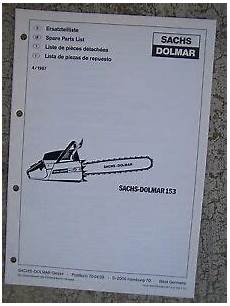 sachs dolmar chain saw parts 1987 sachs dolmar chain saw spare parts list model 153 more in our store v ebay